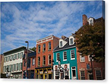 Buildings Along A Street, Thames Canvas Print by Panoramic Images