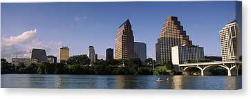Buildings At The Waterfront, Austin Canvas Print by Panoramic Images