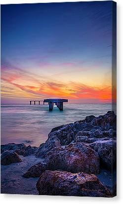 Built On The Horizon Canvas Print by Marvin Spates
