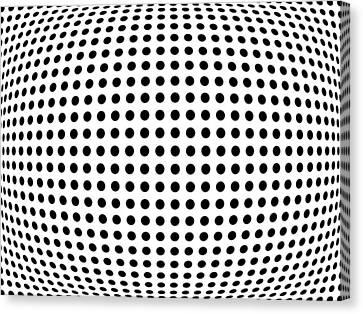 Bulge Dots Canvas Print by Michael Tompsett