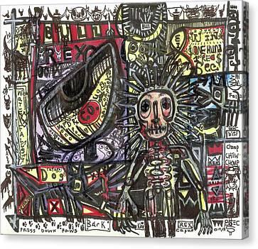 Bull Rider Canvas Print by Robert Wolverton Jr