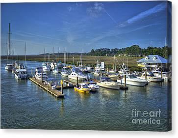 Bull River Marina Tybee Island Savannah Ga Canvas Print by Reid Callaway