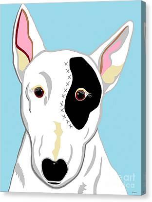Bull Terrier Canvas Print by Eloise Schneider