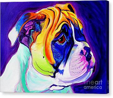 Bulldog - Pup Canvas Print by Alicia VanNoy Call