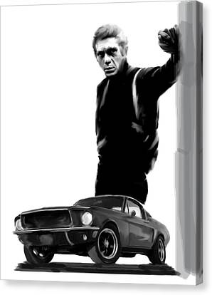 Bullitt Cool  Steve Mcqueen Canvas Print by Iconic Images Art Gallery David Pucciarelli