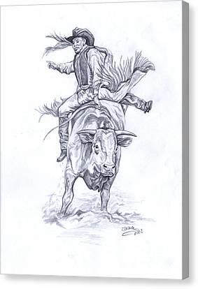 Bullrider Canvas Print by Jana Goode