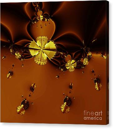 Bumble Beez Over Chocolate Lake . Square . S19 Canvas Print by Wingsdomain Art and Photography