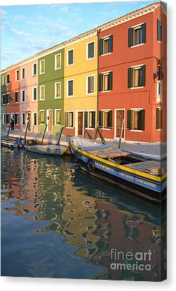 Burano Italy 1 Canvas Print by Rebecca Margraf