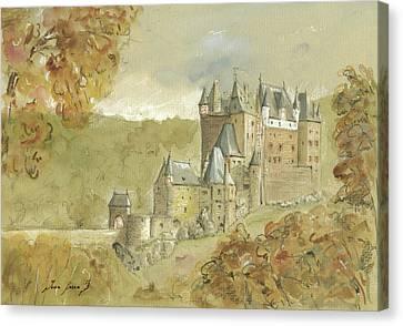 Burg Eltz Castle Canvas Print by Juan Bosco