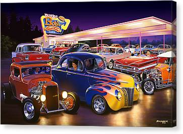 Burger Bobs Canvas Print by Bruce Kaiser