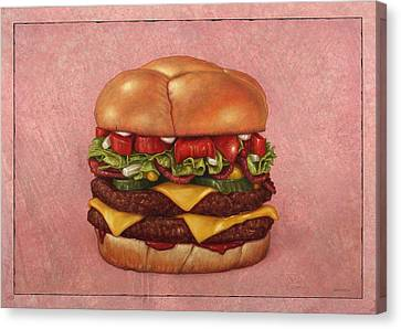 Burger Canvas Print by James W Johnson