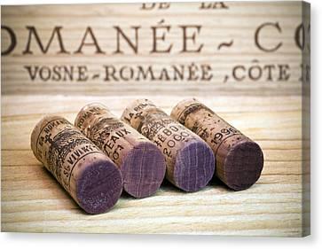 Burgundy Wine Corks Canvas Print by Frank Tschakert