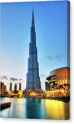 Burj Khalifa Sunset Canvas Print by Shawn Everhart