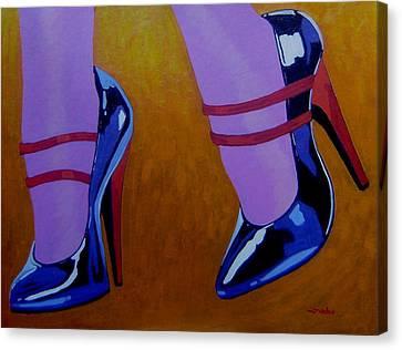 Burlesque Shoes Canvas Print by John  Nolan