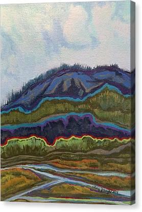 Burn Scar Canvas Print by Jo Anne Neely Gomez