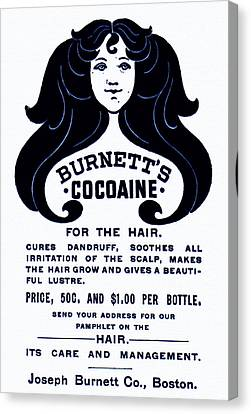 Burnett's Cocaine For The Hair - 1896 Canvas Print by Mountain Dreams