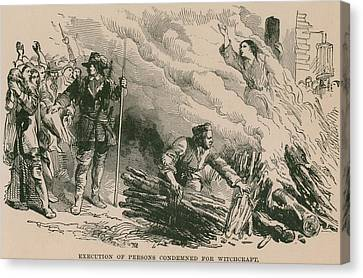 Burning At The Stake, One Of The Most Canvas Print by Everett