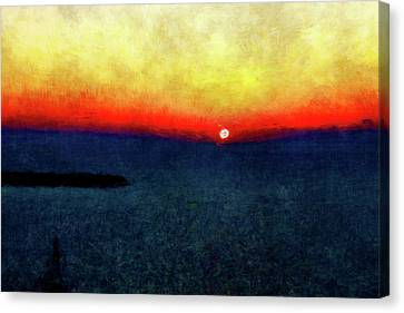 Burning Sunset #2 Canvas Print by Kristian Leov