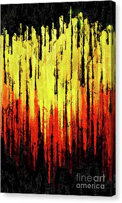 Burning Sunset Abstraction Canvas Print by Kristian Leov