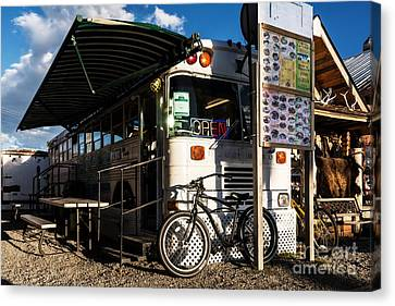 Burrito Bus Canvas Print by Mel Steinhauer