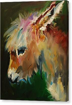 Burro Donkey Canvas Print by Diane Whitehead