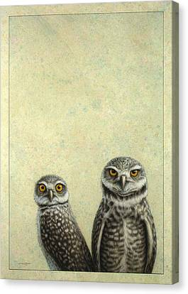 Burrowing Owls Canvas Print by James W Johnson