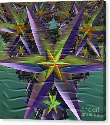 Bursting Stars Canvas Print by Deborah Benoit