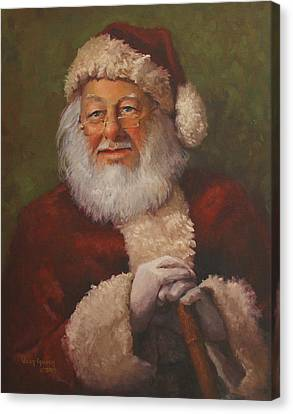Burts Santa Canvas Print by Vicky Gooch