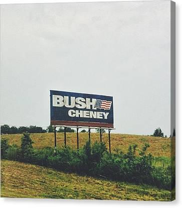 Bush Cheney 2011 Canvas Print by Dylan Murphy