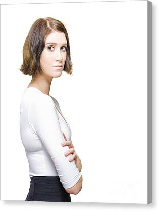 Business Woman Needing Directions For Career Development Canvas Print by Jorgo Photography - Wall Art Gallery