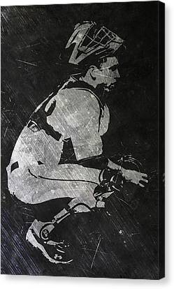 Buster Posey San Francisco Giants Art Canvas Print by Joe Hamilton