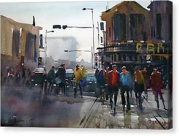busy day, Nashville Canvas Print by Ryan Radke