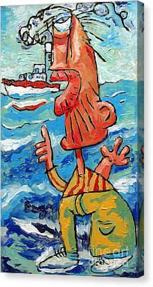 But That Was My Boat Canvas Print by Charlie Spear