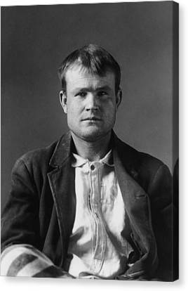 Butch Cassidy Mugshot 1894 Canvas Print by War Is Hell Store