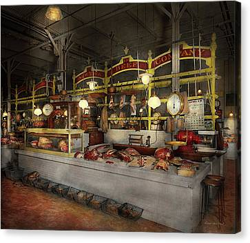 Butcher - Meat Party 1926 Canvas Print by Mike Savad
