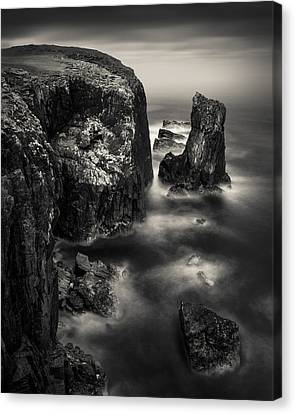 Butt Of Lewis Cliffs Canvas Print by Dave Bowman