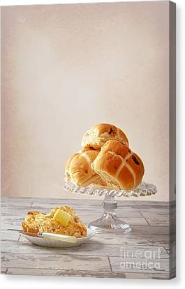 Buttered Hot Cross Bun Canvas Print by Amanda And Christopher Elwell
