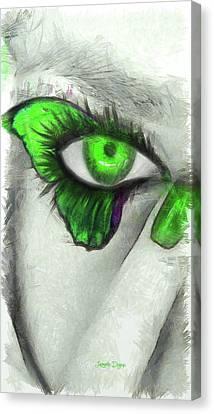 Butterfleye - Pencil Style Canvas Print by Leonardo Digenio