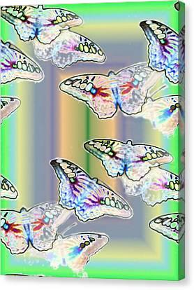 Butterflies In The Vortex Canvas Print by Tim Allen