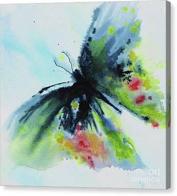 Butterfly 1 Canvas Print by Karen Fleschler