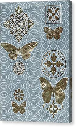 Butterfly Deco 1 Canvas Print by JQ Licensing
