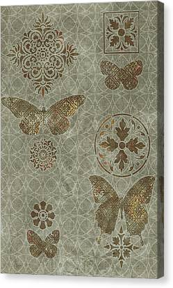 Butterfly Deco 2 Canvas Print by JQ Licensing