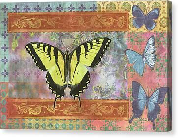Butterfly Mosaic Canvas Print by JQ Licensing