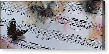 Butterfly Symphony Canvas Print by Dorina  Costras