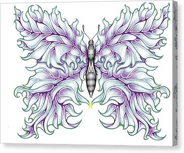 Butterfly Tattoo 2 Canvas Print by Karen Musick