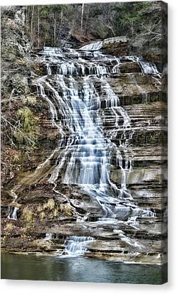 Buttermilk Falls Canvas Print by Stephen Stookey