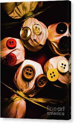 Button Sack Lollypop Monsters Canvas Print by Jorgo Photography - Wall Art Gallery
