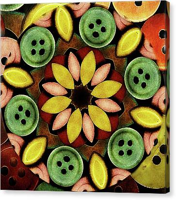 Buttons Abstract Canvas Print by Bonnie Bruno