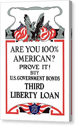 Buy U.s. Government Bonds Canvas Print by War Is Hell Store