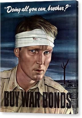 Buy War Bonds Canvas Print by War Is Hell Store